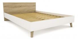 Łóżko do sypialni Molde 140 w stylu skandynawskim
