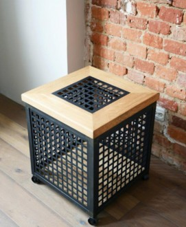 Designerski stolik na kółkach ze zdejmowanym blatem RHO