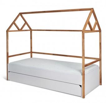 Łóżko dziecięce domek z szufladą Lotta 90/200