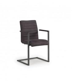 Krzesło tapicerowane na płozach Clark