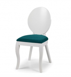 Krzesło z tapicerowanym siedziskiem Hugo