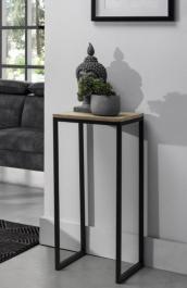 Stolik pomocniczy z drewnianym blatem Grace 35