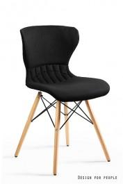 Tapicerowane krzesło na bukowych nogach Soft