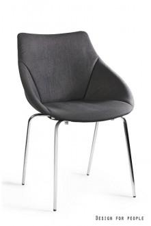 Tapicerowane krzesło do jadalni Lumi czarne