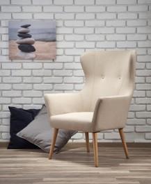 Tapicerowany fotel wypoczynkowy Cotto beżowy