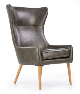Fotel wypoczynkowy tapicerowany ekoskórą Favaro