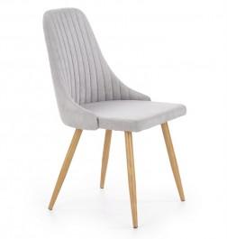 Tapicerowane krzesło na stalowych nogach K-285