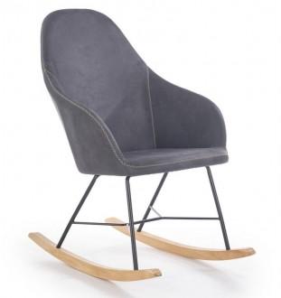 Tapicerowane krzesło bujane Lagos