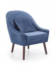 Tapicerowany fotel wypoczynkowy z poduszką Opale ciemny niebieski