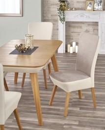 Krzesło z ekoskóry na drewnianych nogach Orchid 2
