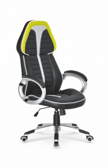 Obrotowy fotel biurowy z ekoskóry Signet