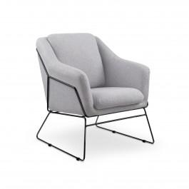 Fotel z poduchą na czarnych płozach Soft 2