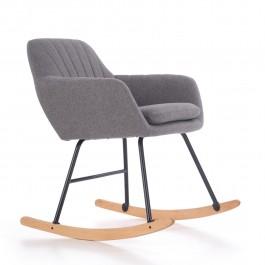 Tapicerowany fotel bujany z miękkim siedziskiem York
