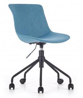 Tapicerowane krzesło obrotowe na czarnym stelażu Doblo