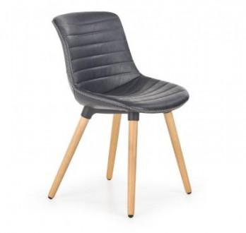 Krzesło z ekoskóry na drewnianych nogach K267