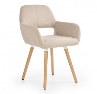 Tapicerowane krzesło do jadalni w stylu skandynawskim K283