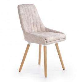 Nowoczesne krzesło na drewnianych nogach K284