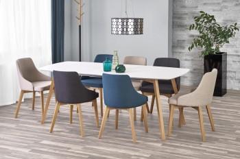 Rozkładany stół do jadalni z lakierowanym blatem Kajetan 150