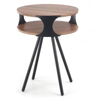 Designerski stolik kawowy z półką Kirby