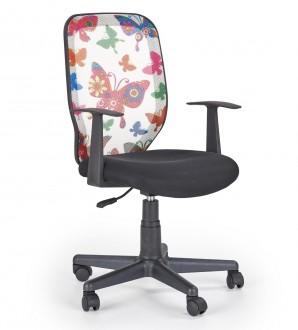 Obrotowe krzesło młodzieżowe z motywem na oparciu Kiwi butterfly