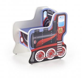 Fotelik dziecięcy w kształcie lokomotywy Lokomo