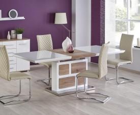 Rozkładany stół z lakierowanym blatem Domus