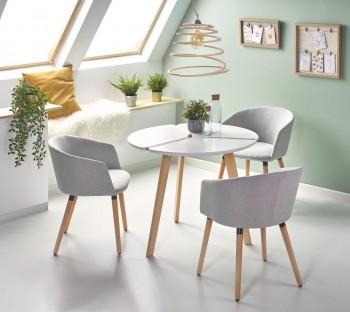Okrągły stół z lakierowanym blatem Express