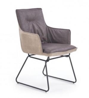 Tapicerowane krzesło z podłokietnikami K-271