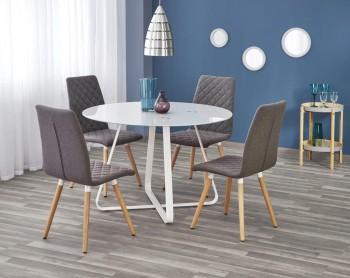 Okrągły stół z blatem szklanym Looper