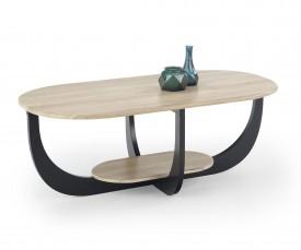 Nowoczesny stolik do salonu z półką Odilia