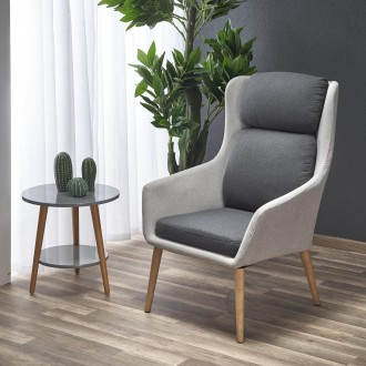 Tapicerowany fotel wypoczynkowy z miękkim siedziskiem Purio