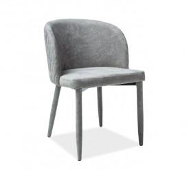 Krzesło do jadalni z tapicerowanymi nogami Carlos