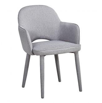 Komfortowe krzesło jadalniane z tapicerowanymi nogami Robin