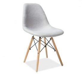 Tapicerowane krzesło na drewnianych nogach Coco