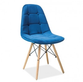 Krzesło tapicerowane aksamitną tkaniną Axel III