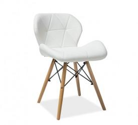 Pikowane krzesło tapicerowane ekoskórą Matias