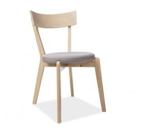 Drewniane krzesło z tapicerowanym siedziskiem Nelson