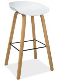 Nowoczesny stołek barowy na bukowych nogach Sting