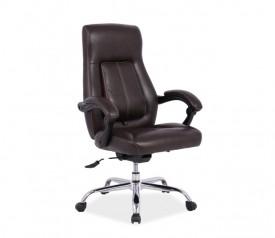Obrotowy fotel do biura z ekoskóry Boss