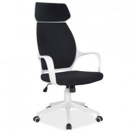 Obrotowe krzesło biurowe na białym stelażu Q-188