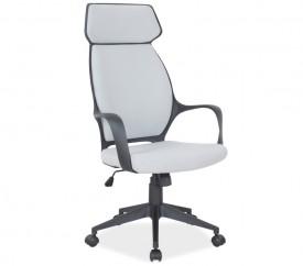 Obrotowe krzesło biurowe na czarnym stelażu Q-188