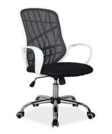 Krzesło biurowe z oparciem z siatki Dexter czarny/biały