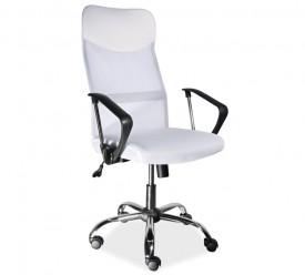 Krzesło biurowe z tkaniny membranowej Q-025 biały