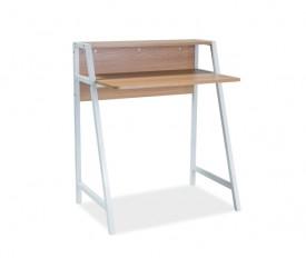 Biurko z półką w stylu industrialnym Timo B