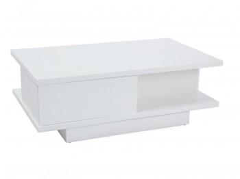 Biała ława do salonu z szufladami Aria