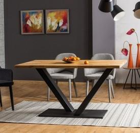 Nierozkładany stół do jadalni w stylu industrialnym Vector 180/90