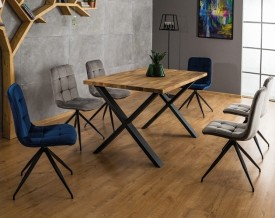 Stół Xaviero II 180/90 w stylu industrialnym