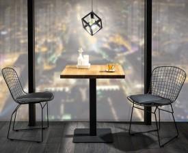 Kwadratowy stół z blatem w okleinie naturalnej Puro 70x70