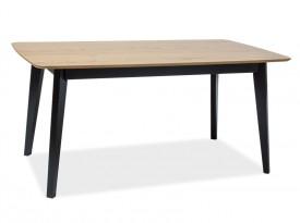 Stół z blatem w okleinie naturalnej Macan