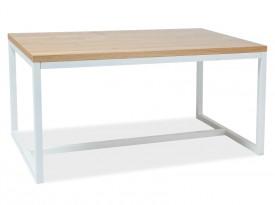Stół w stylu industrialnym Loras A 180/90 biały